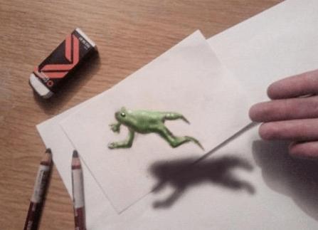 魅力3D立体铅笔画 次元结合